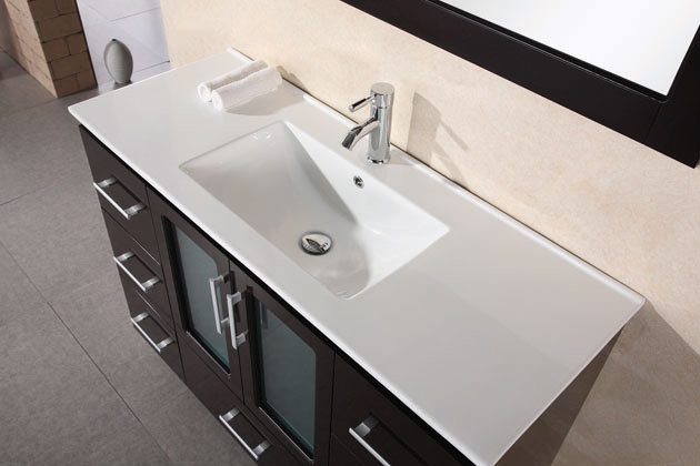 48 Inch Modern Bathroom Vanity Set With Drop In Sink By Design Element