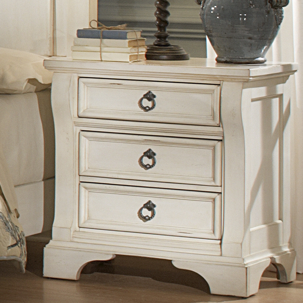 american woodcrafters heirloom antique white 2 piece