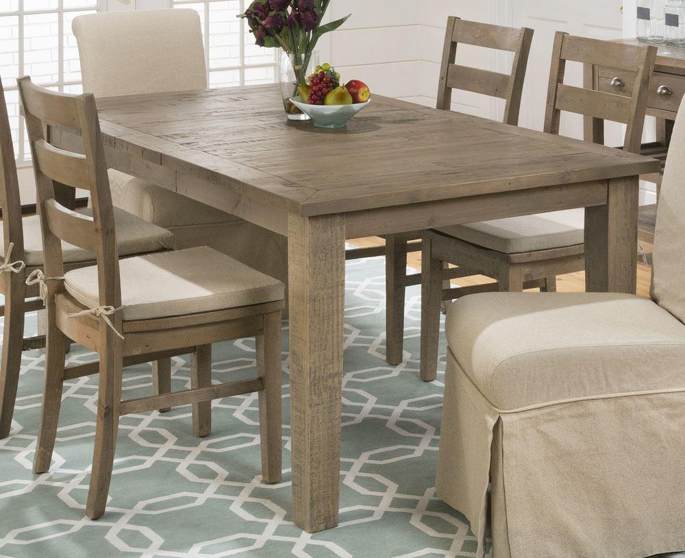 slater mill pine 8 piece 72x42 rectangular dining room set w credenza